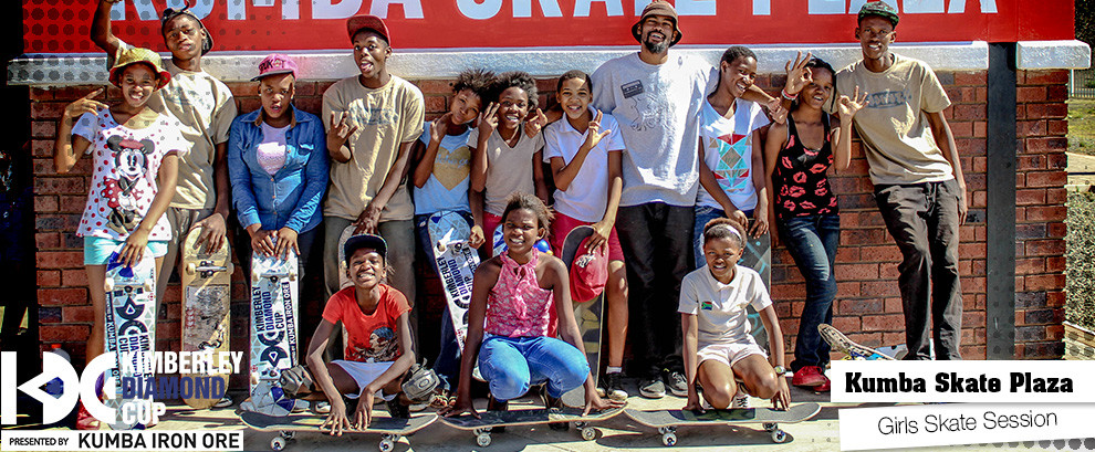 Girls Skate Session At The Kumba Skate Plaza