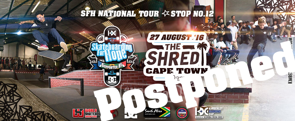 Postponed: Skateboarding For Hope At The Shred, Cape Town